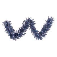 Vickerman 9 ft. Dark Blue Fir Pre-lit Garland