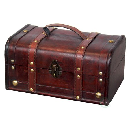 Vintiquewise Decorative Wood Small Treasure Box