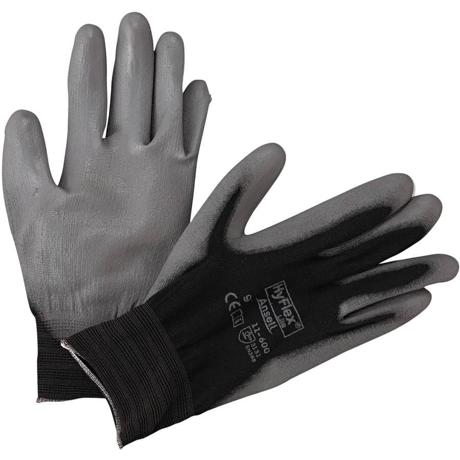 AnsellPro - HyFlex Lite Gloves, Black/Gray, Size 9