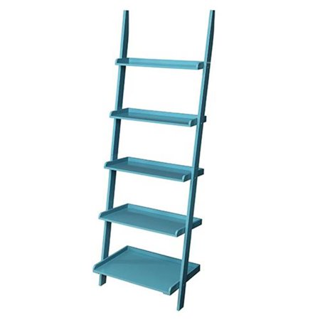 French Country Bookshelf Ladder With  Blue Finish