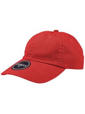fb19fbabcfa Product Image Enimay Low Profile Baseball Cap Classic Adjustable Velcro  Strap Plain Hat 100% Cotton Red