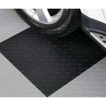 blocktile garage flooring diamond top interlocking tiles set of 27. Black Bedroom Furniture Sets. Home Design Ideas