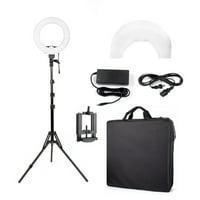 Kshioe 180pcs LED Ring Light Dimmable 5500K Lighting Video Continuous Light Stand Kit