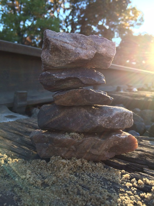Framed Art For Your Wall Relaxation Stone Rocks Stacking Stones