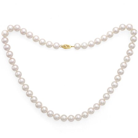 6.5-7mm White Perfect Round Akoya Pearl 20