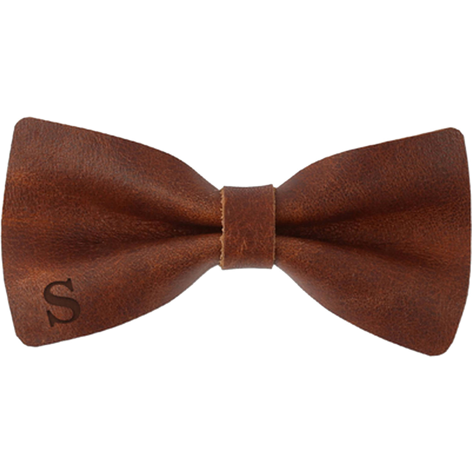 "Genuine Leather Customized Initial Bow Tie 4.5"" x 2.3"""
