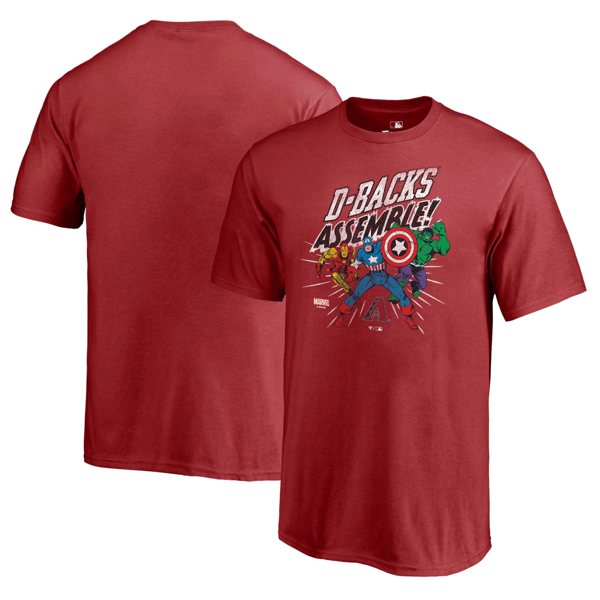 Arizona Diamondbacks Fanatics Branded Youth Marvel Avengers Assemble T-Shirt - Red