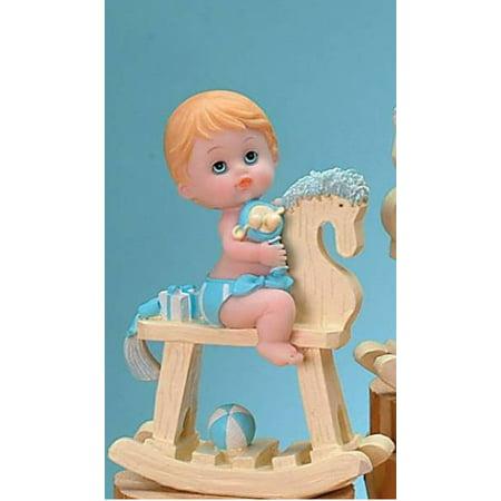 Baby Boy On Rocking Horse Baby Shower Cake Centerpiece Decoration Gift - Horse Centerpieces