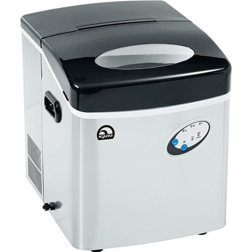 Igloo ICE115-SS Extra-Large Ice Maker, Stainless Steel - Manufacturer Refurbished