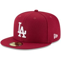 Los Angeles Dodgers New Era Fashion Color Basic 59FIFTY Fitted Hat - Crimson