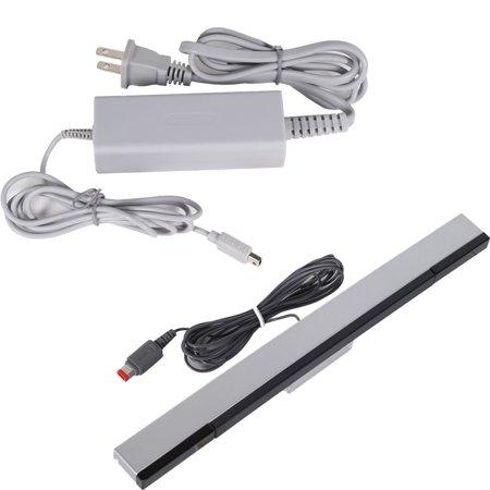 Fosmon Bundle Nintendo Wii U Pad Charging Ac Adapter Wired