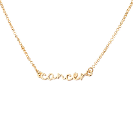 Lux Accessories Cancer Crab Horoscope Zodiac Word Pendant -