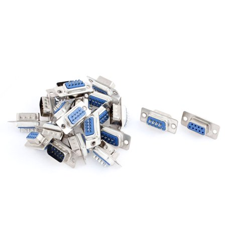 Serial Connector Pins - Unique Bargains 20 Pcs RS232 9 Pin Serial Male and Female DB Connector Soldering Plug