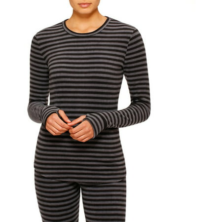 ClimateRight by Cuddl Duds Women's and Women's Plus Stretch Fleece Warm Long Underwear Top ()