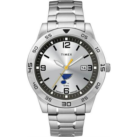 Men's Saint Louis Blues St Watch Timex Citation Steel Watch Louis Blues Heart Watch