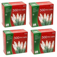 Noma/Inliten Holiday W/land Clear Christmas Mini Light Set, 300 Count (2 pack)