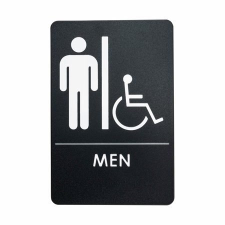 Men's Restroom Sign for Handicap Accessible Restroom, ADA ...