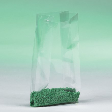 PB1345 4 Inch x 2 Inch x 8 Inch 1 Mil Gusseted Plastic Reclosable Clear Poly Bags CASE OF 1000