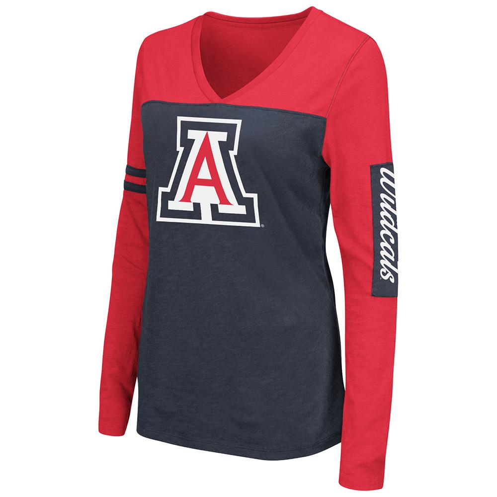 Womens NCAA Arizona Wildcats Long Sleeve Tee Shirt (Team Color) by Colosseum