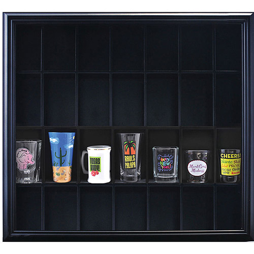 Pinnacle Frame Shot Glass Case, Black