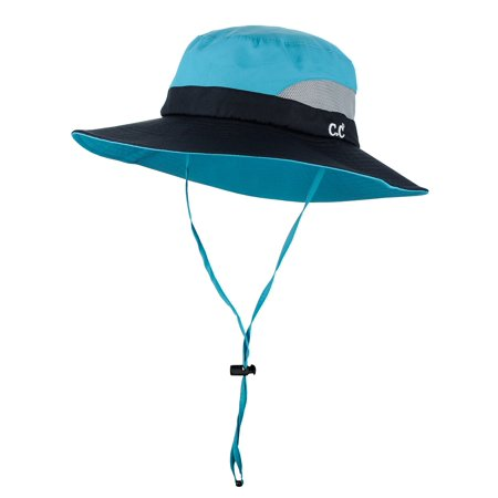 C.C Safari Sun Hat Wide Brim Hat with Ponytail Hole Packable UPF 50+ for Hiking Camping](Jhats Safari)