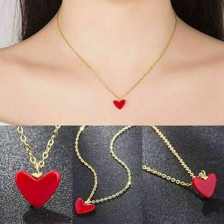 AkoaDa Fashion Heart Pendant Necklace Women Girl Birthday Jewelry Birthday Style (Best Fashion Style Blogs)