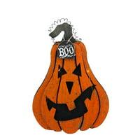 "16"" Light Up ""Boo"" Hanging Jack O' Lantern Halloween Decoration"
