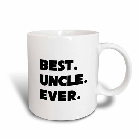 3dRose Best Uncle Ever, Ceramic Mug, 11-ounce