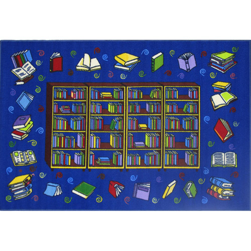Fun Rugs Reading Time Kids' Rug, Blue