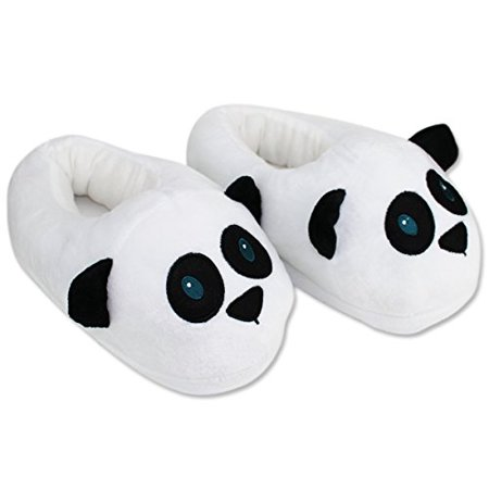 Funny Slippers For Adults (Cute Panda Slippers Plush Cotton Cute Funny Soft Warm Comfortable Indoor Bedroom Shoe For Big Kids & Women With)