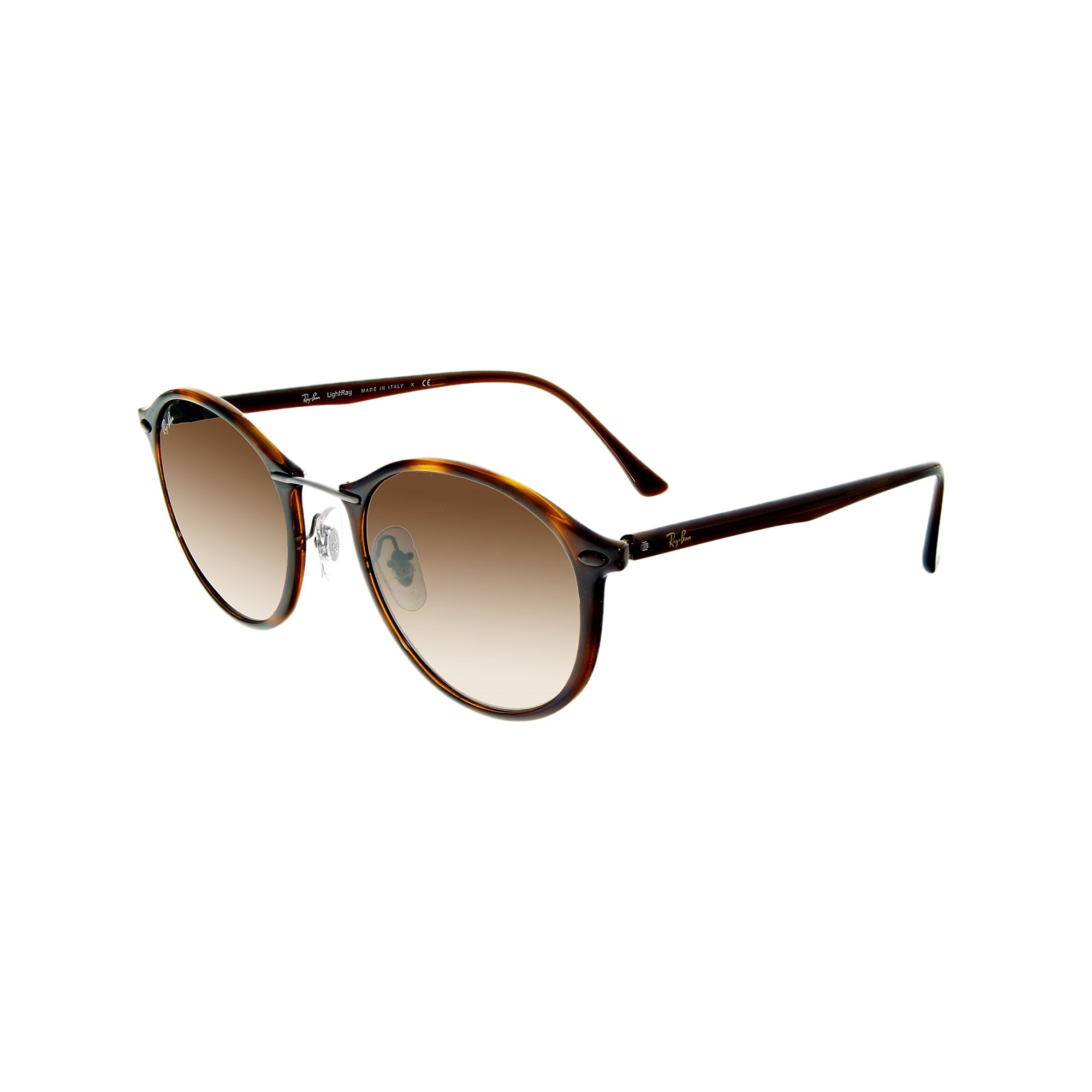 1d8afd55ee3f1 Ray-Ban Men s Gradient Round II Lightray RB4242-620113-49 Brown Sunglasses