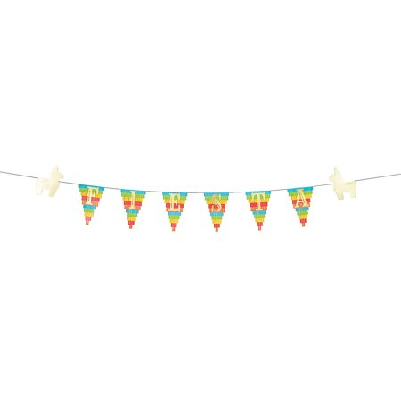 Fun Express - Fiesta Pinata Garland for Cinco de Mayo - Party Decor - Hanging Decor - Garland - Cinco de Mayo - 1 Piece](Fiesta Garland)