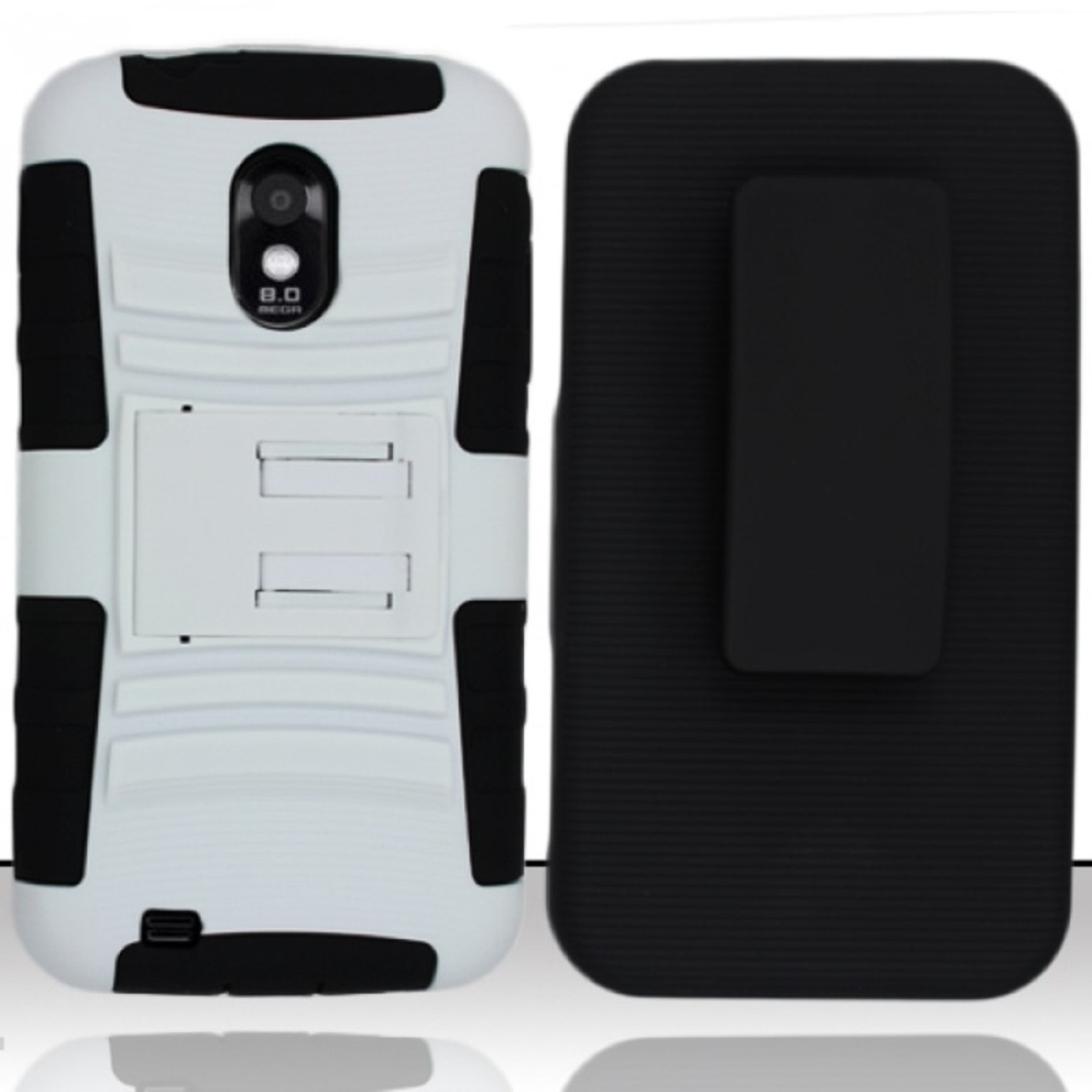 Insten For Samsung Epic Touch 4G D710/Galaxy S2 Heavy Duty Armor Style Case w/Holster - Black/White