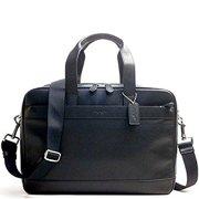 coach men's leather hamilton briefcase crossbody laptop bag mahogany brown f54804 by