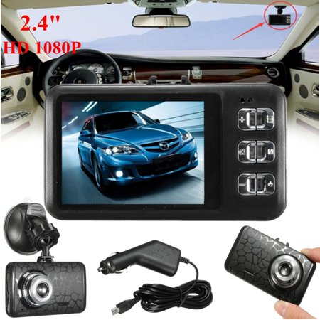 2.4inch HD 1080P Auto Car DVR Dash Cam Video Camera LCD Recorder G-sensor Night Vision (Auto Camera Recorder)