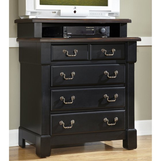 Shop Home Styles Aspen Rustic Cherry King Bedroom Set At: Home Styles The Aspen Collection Media Chest, Rustic