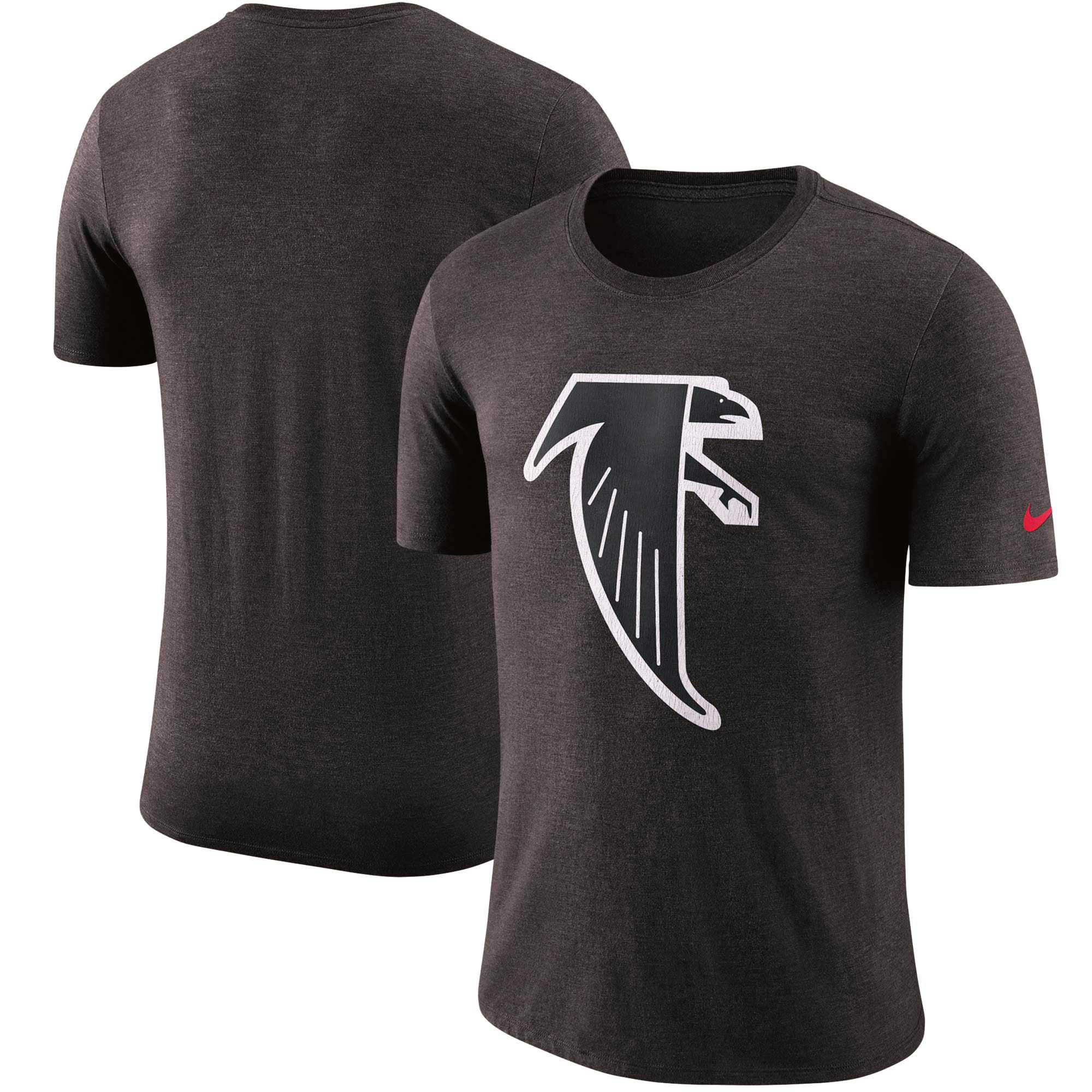 Atlanta Falcons Nike Historic Tri-Blend Crackle T-Shirt - Heathered Black