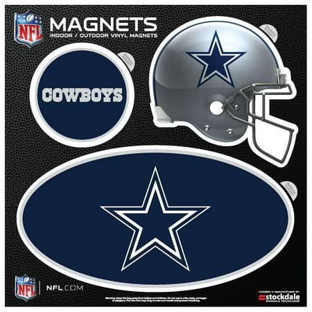 Dallas Cowboys Indoor & Outdoor 3-Pack Magnet Set - No