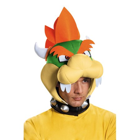 Bowser Adult Headpiece - Bowser Costumes
