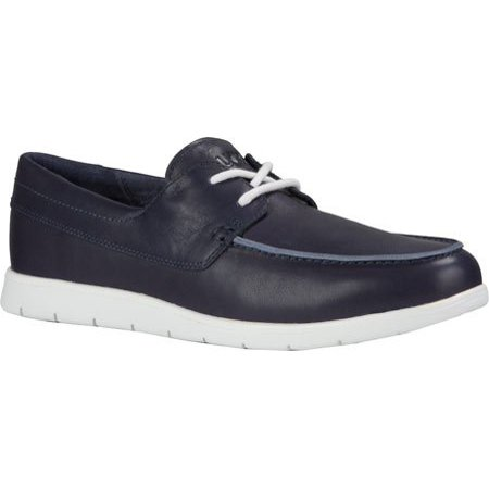 UGG 1013128-NAVY: Catton Leather Navy/White Moccasin Boat Sneaker for Men (11 D(M) US Men, Navy/White) (Ugg For Dogs)
