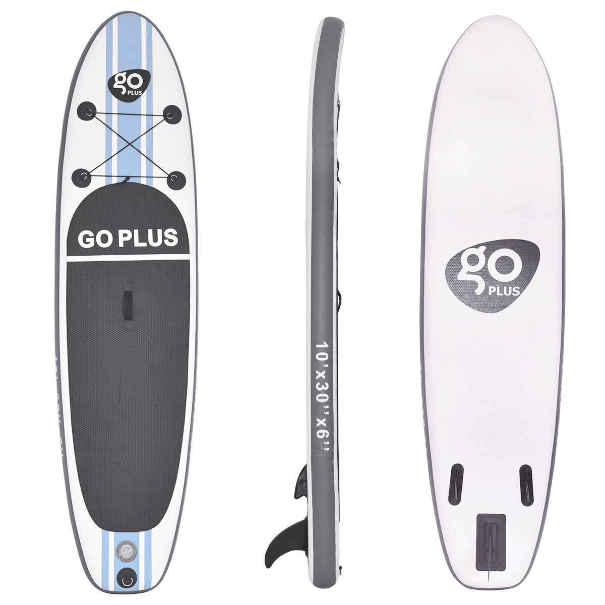 Click here to buy Goplus 10' Inflatable Stand Up Paddle Board SUP w  3 Fins.