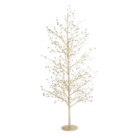 Gold Glittering Clear Gem Decorative Christmas Tree Table Top 33
