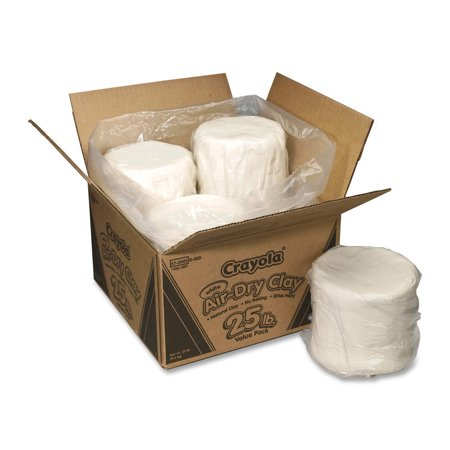 Crayola Air Dry Clay Value Pack In White  25 Pounds