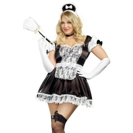 Queen Maid For You Costume Dreamgirl A9507X Black/White - French Maid Costumes Plus Size