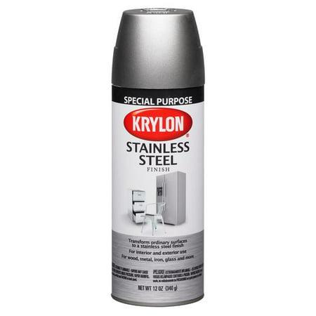 Krylon Stainless Steel Finish Appliance Spray (Best Paint For Steel)