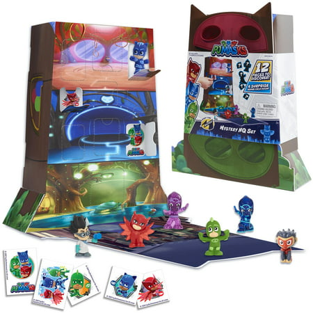 PJ Masks Night Time Micros Mystery HQ Box Set, Ages 3+