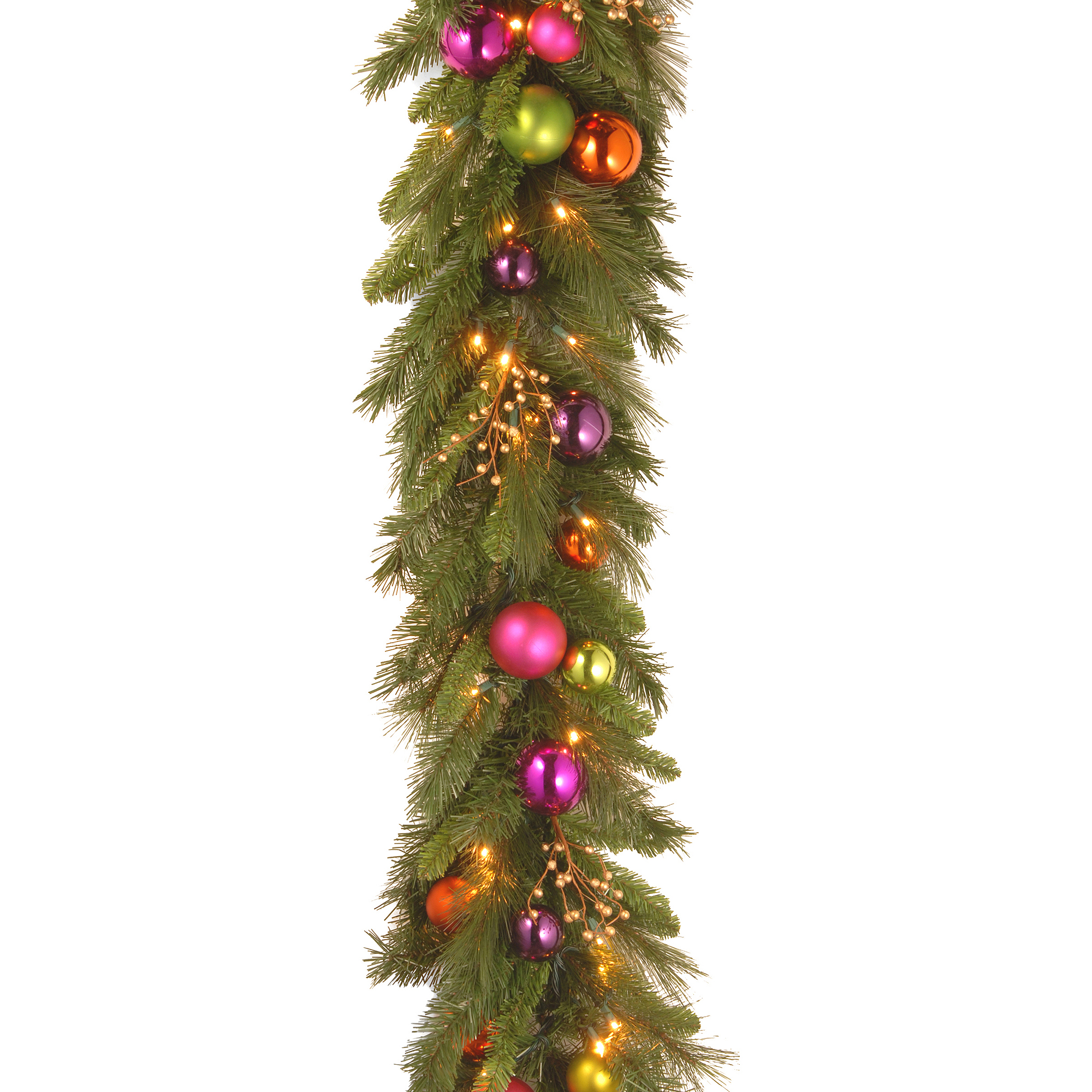 National Tree 6 X 16 Quot Kaleidoscope Garland With 50 Soft