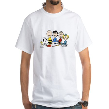 CafePress - The Peanuts Gang White T-Shirt - Men's Classic T-Shirts - Peanuts Gang Halloween Shirt