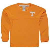 Tennessee Volunteers chicka-d Girls Toddler Varsity Jersey Top Long Sleeve Shirt - Tennessee Orange