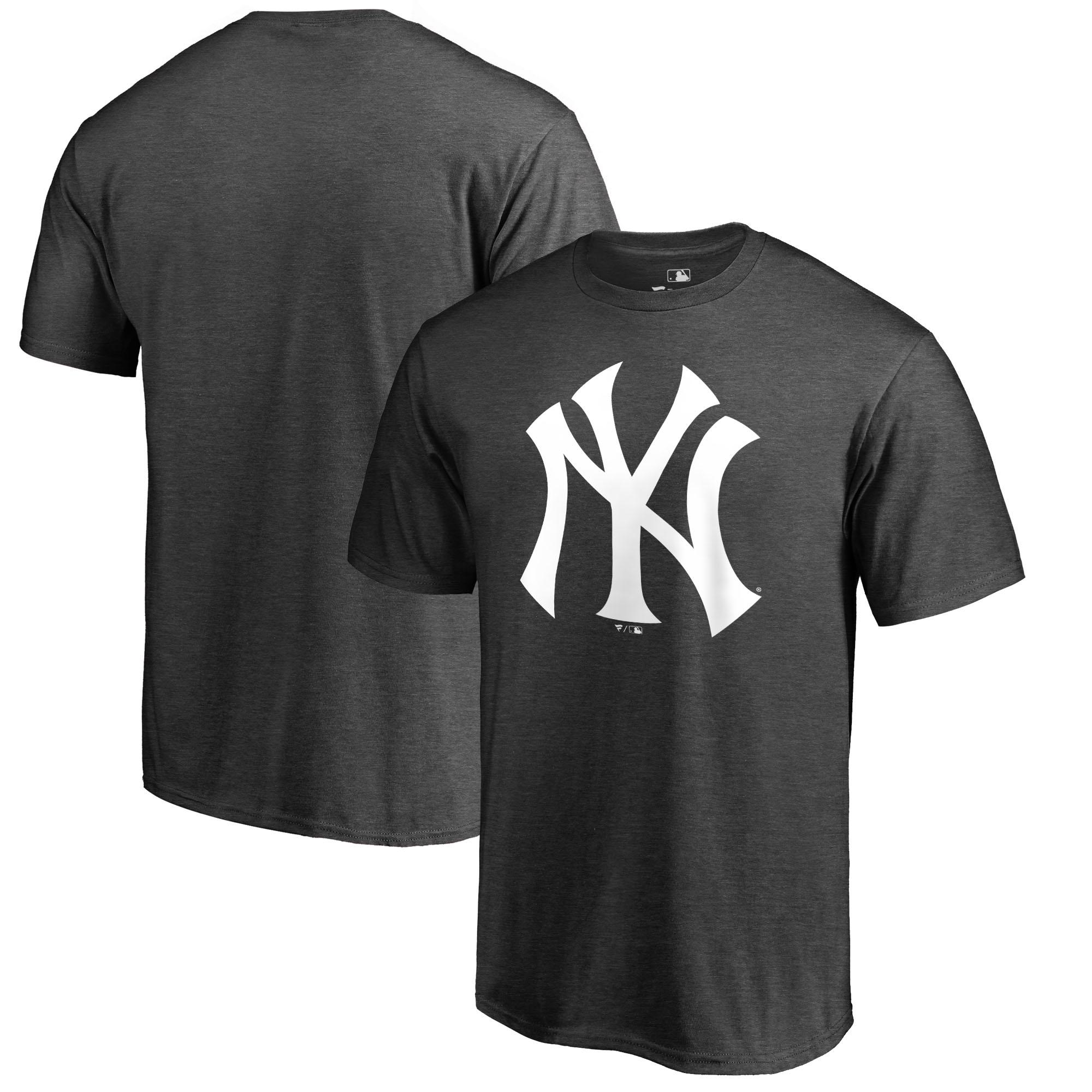 New York Yankees Fanatics Branded Primary Logo T-Shirt - Charcoal